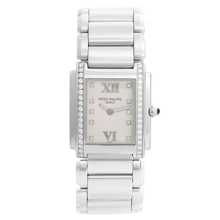 a73a62d83f4 Patek Philippe Twenty-4 Ladies Steel and Diamond Watch 4910/10 For ...