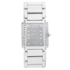 Patek Philippe Twenty-4 Ladies Steel and Diamond Watch 4910/20G-010