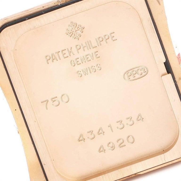 Patek Philippe Twenty-4 Rose Gold Black Strap Diamond Ladies Watch 4920R For Sale 2