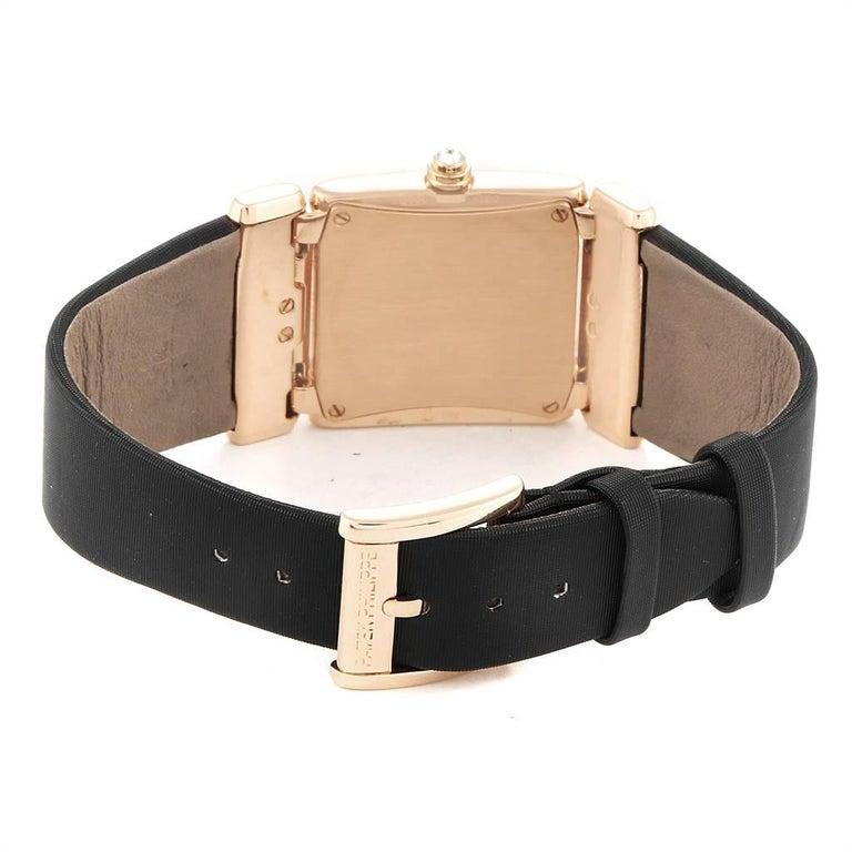 Patek Philippe Twenty-4 Rose Gold Black Strap Diamond Ladies Watch 4920R For Sale 4