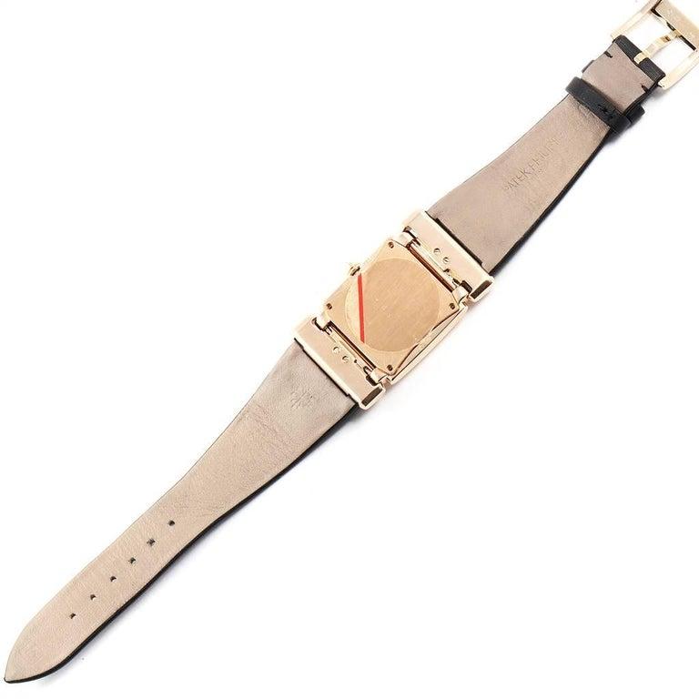 Patek Philippe Twenty-4 Rose Gold Black Strap Diamond Ladies Watch 4920R 5