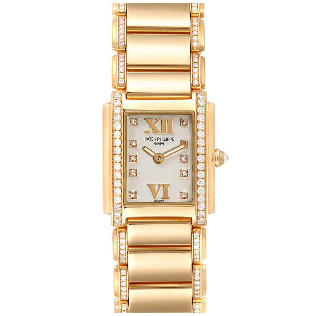 Patek Philippe Twenty-4 Small 18 Karat Rose Gold Diamond Ladies Watch 4908