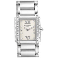 Patek Philippe Twenty-4 White Gold Diamond Ladies Watch 4908 Box Papers