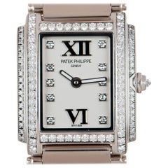 Patek Philippe Twenty4 Ladies 18k White Gold Timeless White Dial Diamond Set