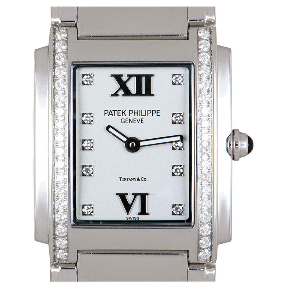 Patek Philippe Twenty4 Ladies Stainless Steel Double Name Tiffany & Co. Dial