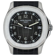 Patek Philippe Very Rare Aquanaut Gents Stainless Steel Black Grey Dial B&P 5165