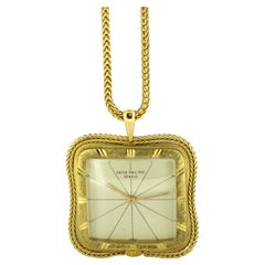 Patek Philippe Vintage 18 Karat Gold Necklace Pocket Watch, Switzerland, 1950s