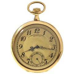 Patek Philippe Vintage Fine Yellow Gold and Textured Dial Gents Pocket Watch