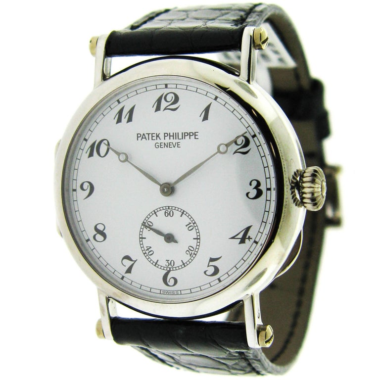 Patek Philippe White Gold 150th Anniversary Limited Edition Manual Wristwatch