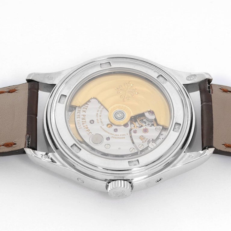 Contemporary Patek Philippe White Gold Annual Calendar Automatic Wristwatch Ref 5146G For Sale
