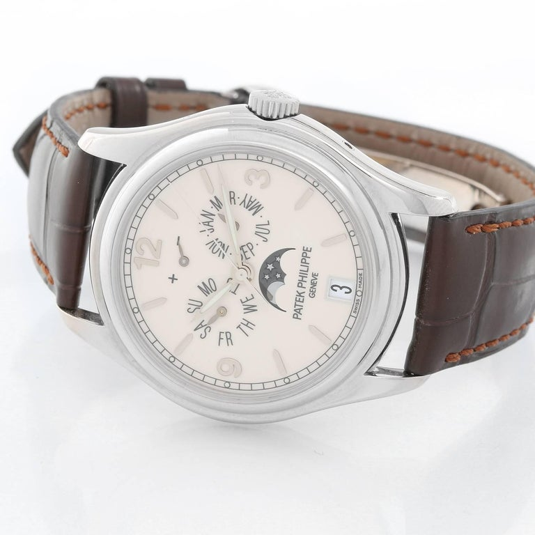 Patek Philippe White Gold Annual Calendar Automatic Wristwatch Ref 5146G In Excellent Condition For Sale In Dallas, TX