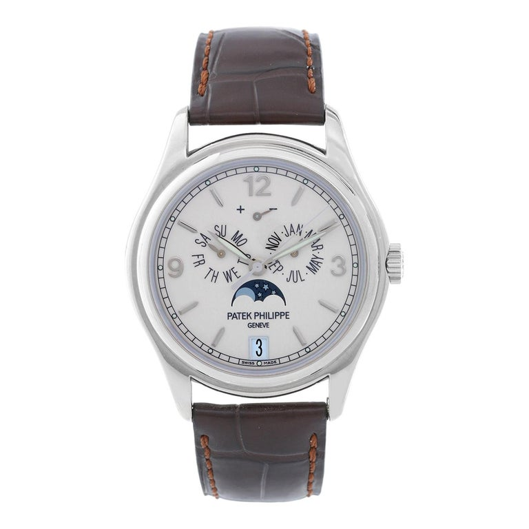 Patek Philippe White Gold Annual Calendar Automatic Wristwatch Ref 5146G For Sale