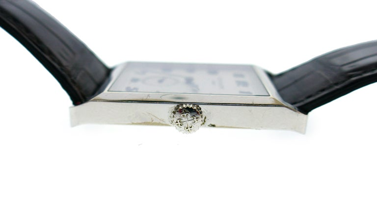 Patek Philippe White Gold Manual Wind Wristwatch For Sale 1