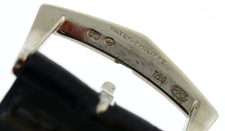 Patek Philippe White Gold Manual Wind Wristwatch For Sale 4