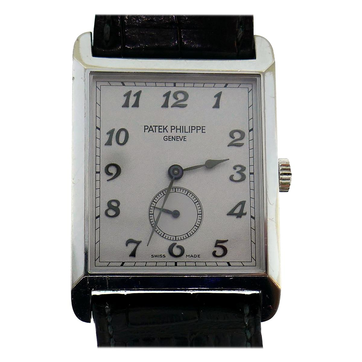 Patek Philippe White Gold Manual Wind Wristwatch