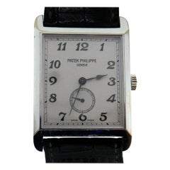 Patek Philippe White Gold Manual Wind Wristwatch