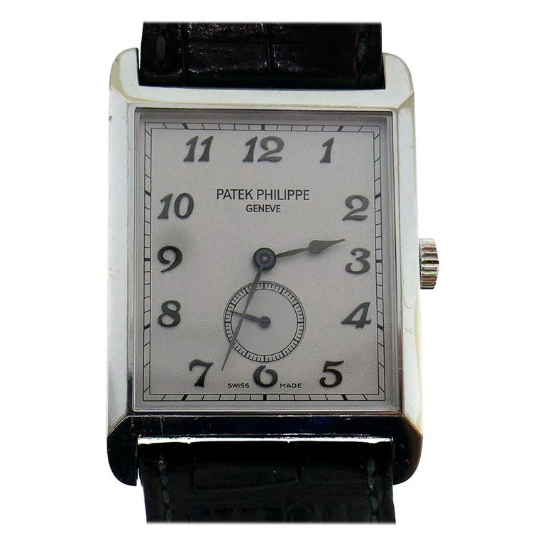 Patek Philippe White Gold Manual Wind Wristwatch For Sale