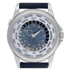 Patek Philippe World Time 5130P; Silver Dial, Certified