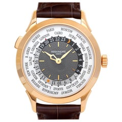 Patek Philippe World Time 5230R, Grey Dial, Certified and Warranty