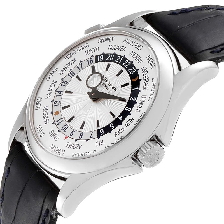 Patek Philippe World Time Complications White Gold Men's Watch 5130 For Sale 2