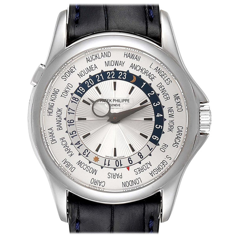 Patek Philippe World Time Complications White Gold Men's Watch 5130 For Sale
