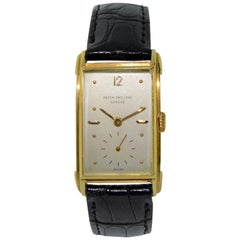 Patek Philippe Yellow Gold Art Deco Style Manual Watch, circa 1948