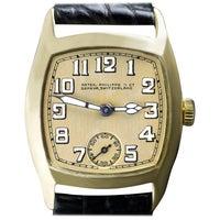 Patek Philippe Yellow Gold Art Deco Tonneau Shaped Manual Wristwatch, 1926