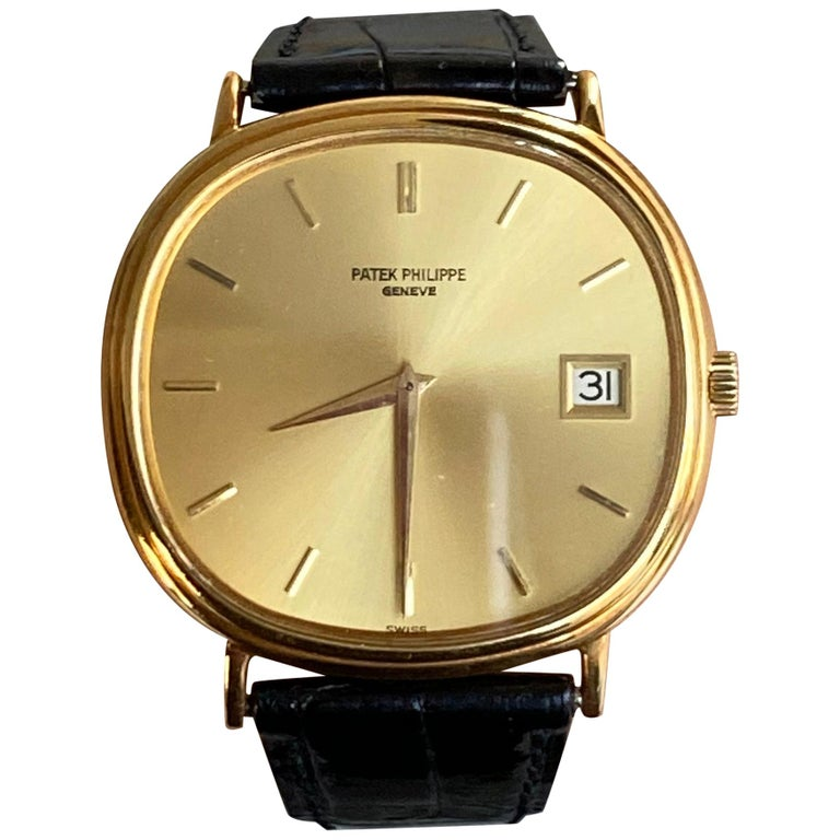 Patek Philippe Yellow Gold Automatic Ellipse 3839 For Sale