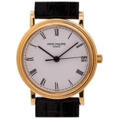 Patek Philippe Yellow Gold Calatrava Hobnail Bezel Automatic Wristwatch, c 2000