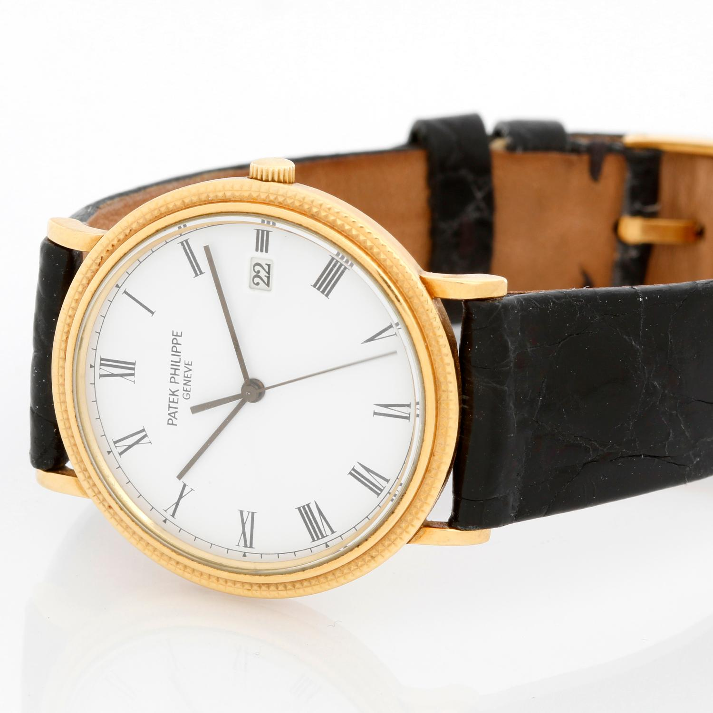 7273b13d0b7 Patek Philippe Yellow Gold Calatrava Men s Quartz Watch Ref. 3944 J or  3944J For Sale at 1stdibs