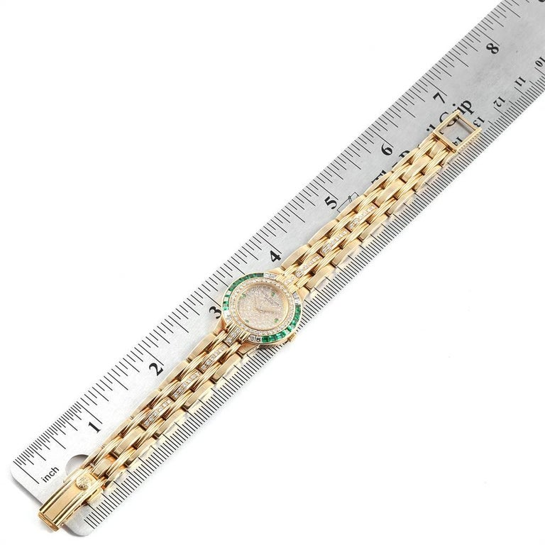 Patek Philippe Yellow Gold Diamond Emerald Ladies Watch 4786 For Sale 6