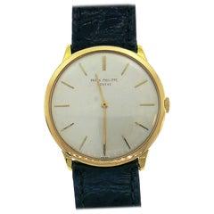 Patek Philippe Yellow Gold Manual Wind Wristwatch