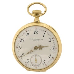 Patek Philippe Yellow Gold Porcelain Dial Pocket Watch