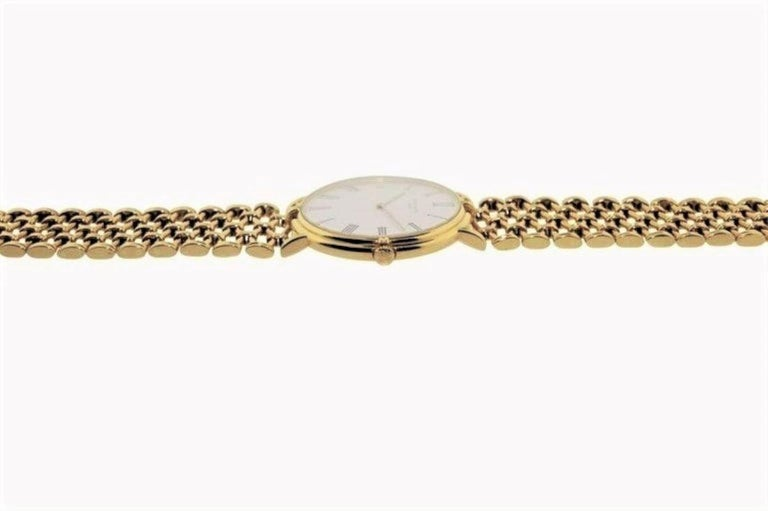 Women's or Men's Patek Philippe Yellow Gold Screw Back Bracelet Manual Watch, circa 1970s For Sale