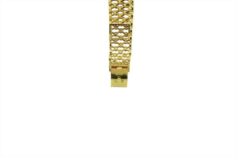 Patek Philippe Yellow Gold Screw Back Bracelet Manual Watch, circa 1970s For Sale 1