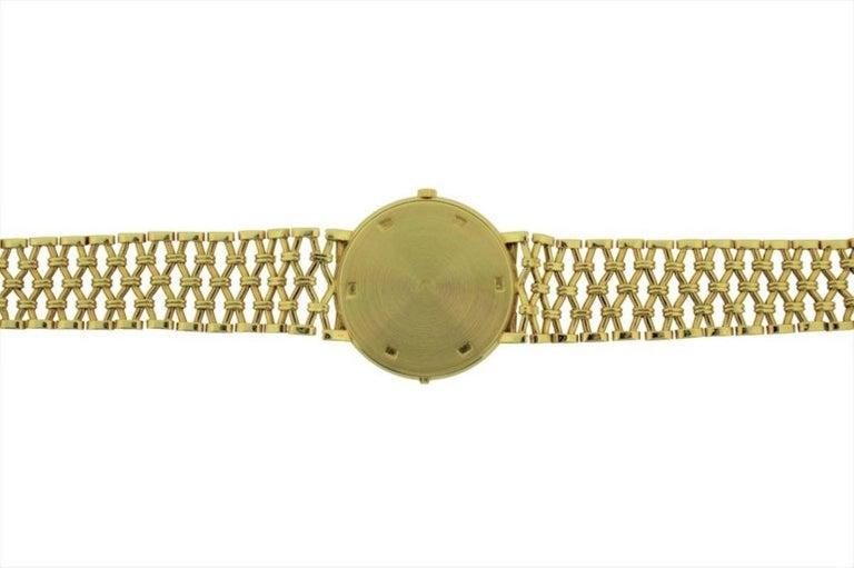 Patek Philippe Yellow Gold Screw Back Bracelet Manual Watch, circa 1970s For Sale 2