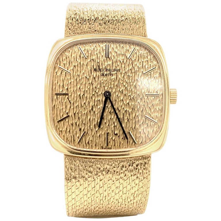 Patek Philippe Yellow Gold Wristwatch For Sale