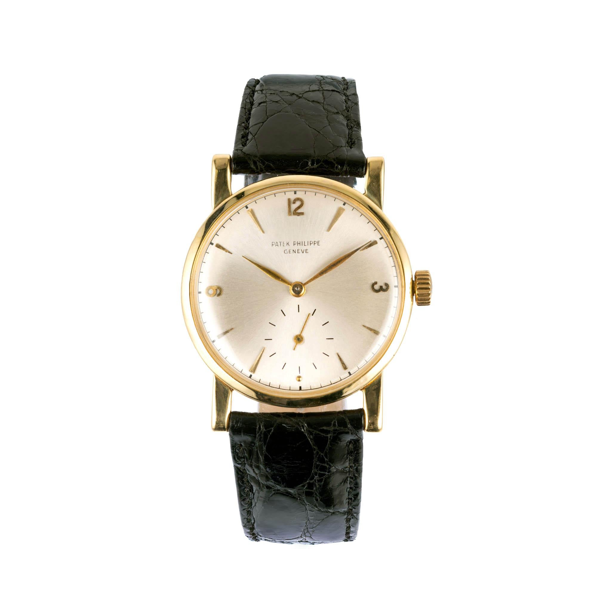 Patek Philippe Yellow Gold Wristwatch Ref 1578, circa 1955