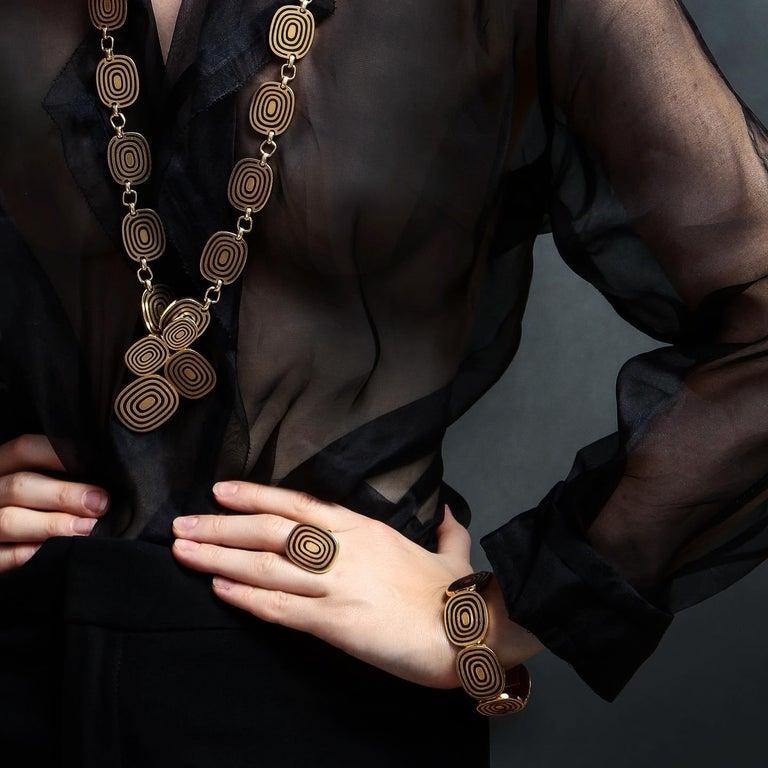 1960s Patek Phillipe Five Piece Modernist Gold Enamel Jewelry Suite 2