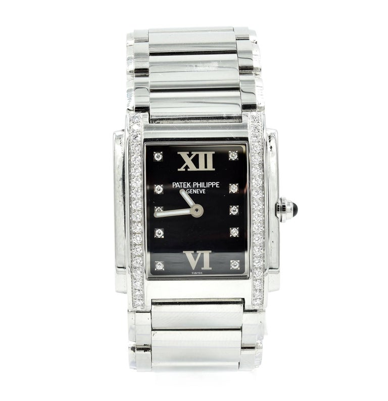 Patek Philippe Ladies Stainless Steel Twenty-4 quartz Wristwatch Ref 4910/10A