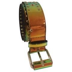 Patent Leather handmade belt