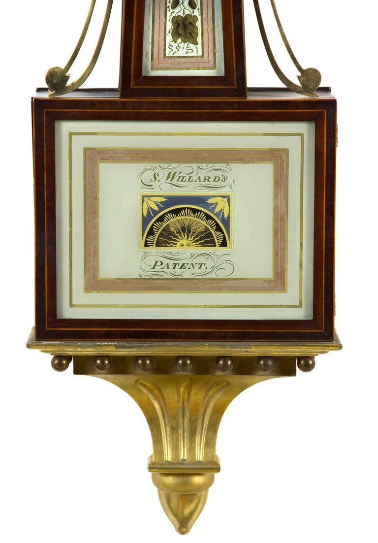 Patent Timepiece Banjo Clock, Providence, RI by Walter H. Durfee, circa 1900 In Excellent Condition For Sale In Providence, RI