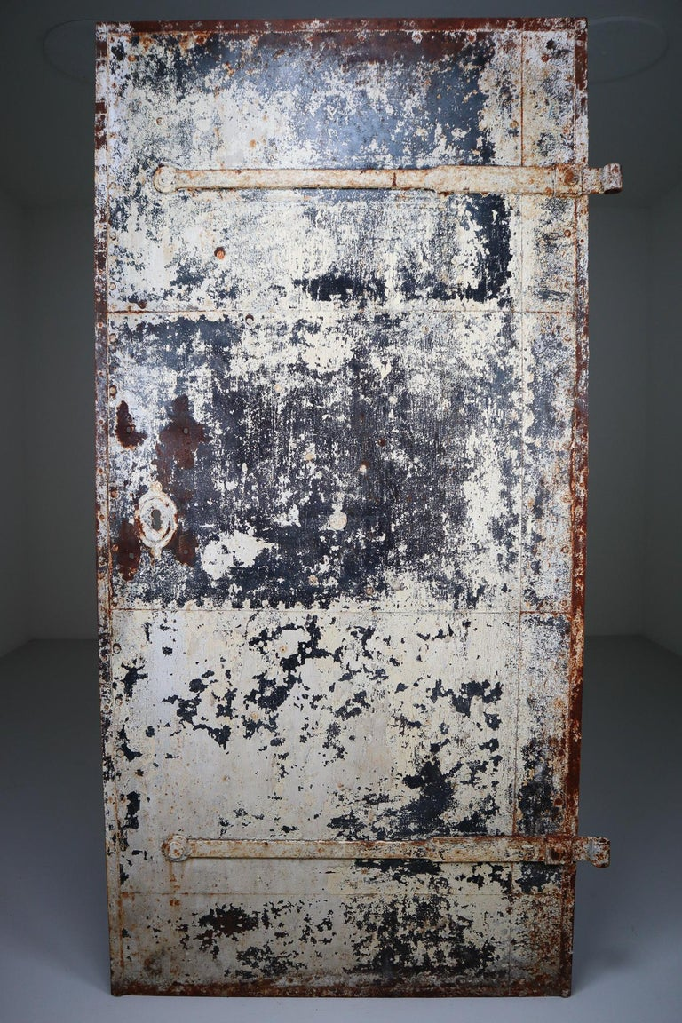 Patinated Antique Industrial Iron Door, France, 19th Century For Sale 1