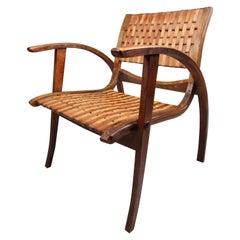 Patinated Bauhaus Lounge Chair by Erich Dieckmann for Gelanka Tyskland, 1930s