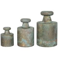 Patinated Brass Weights, circa 1910-1940