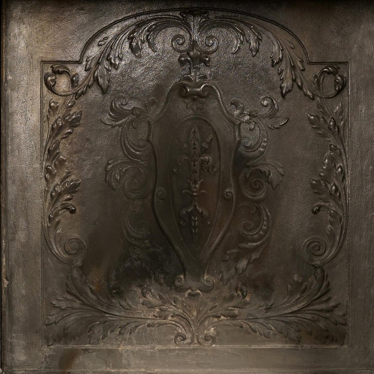 Patinated Bronze and Sienna Marble Fireplace of Palatial Proportions, circa 1850 For Sale 5
