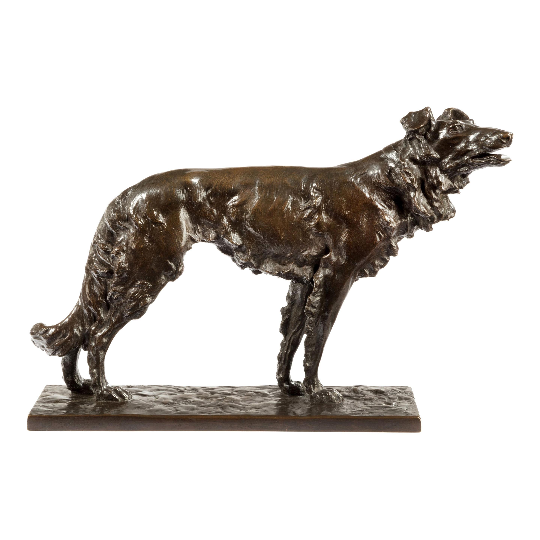 Patinated Bronze Borzoi