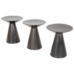 Patinated Bronze Conical side Tables Sold Individually
