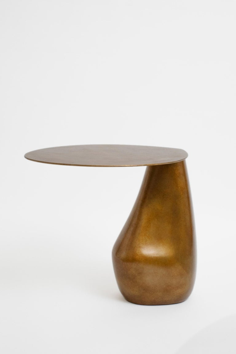 Modern Patinated Bronze Dionis Side Table by Konekt Furniture