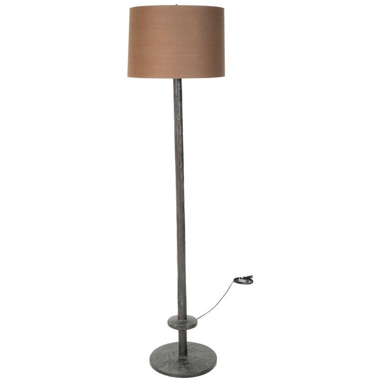 Patinated Bronze Floor Lamp in the Manner of Giacommeti For Sale